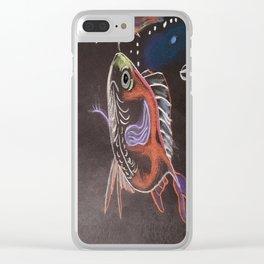 Goldfish Bubbles Clear iPhone Case