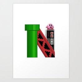 Geek letter N Art Print