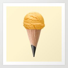 ICE CREAM PENCIL Art Print