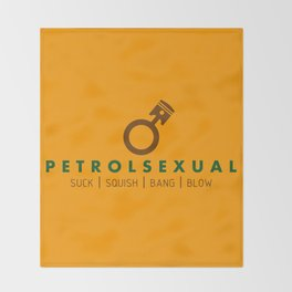 PETROLSEXUAL v7 HQvector Throw Blanket