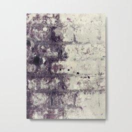 Ultra Violet Brick Wall Metal Print
