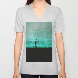 seagrass at sunrise Unisex V-Neck