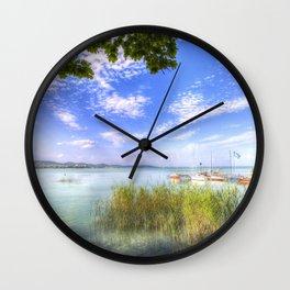Lake Balaton Summer Wall Clock