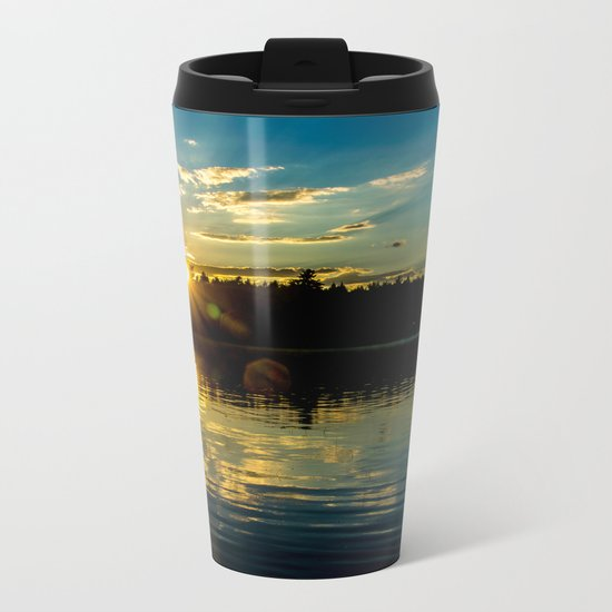 Golden Sunset Metal Travel Mug