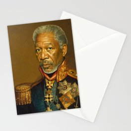 Morgan Freeman - replaceface Stationery Cards