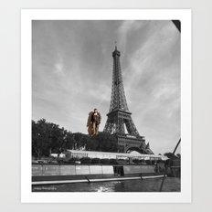 Man Eifel Tower Art Print