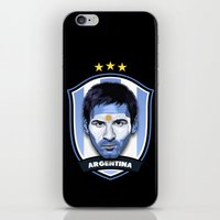 messi iPhone & iPod Skins featuring Messi by Rudi Gundersen