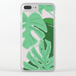 Dull Summer Clear iPhone Case