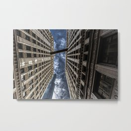 The Chicago Trump Tower Up in Smoke Metal Print
