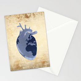 The earth is our heart - EARTH DAY '16 - all artist profits to be donated Stationery Cards