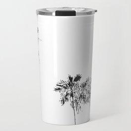 Minimal Black and White Palm Trees Travel Mug