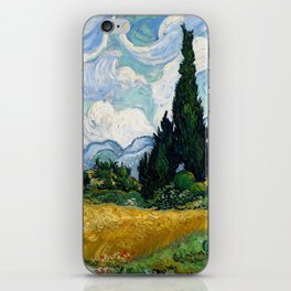 Wheat Field with Cypresses iPhone Skin