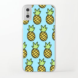 Pineapple print Clear iPhone Case