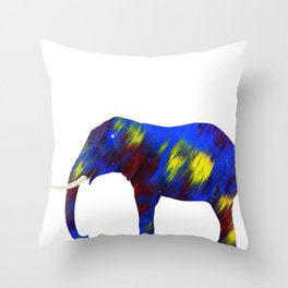 My bad luck elephant Throw Pillow
