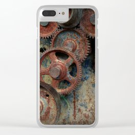 Gear mechanism Clear iPhone Case
