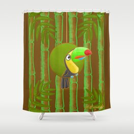 Happy Toucan! Shower Curtain