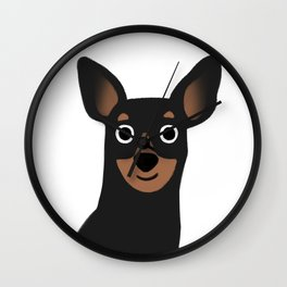 Min Pin - Cute Dog Series Wall Clock