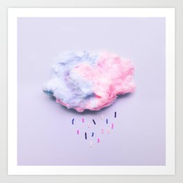 Cloudy with a Chance of Sprinkles Art Print
