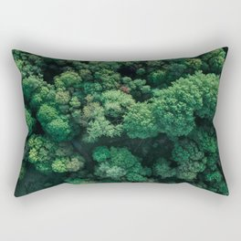 Trees from above | Forest fine art photography | Aerial drone photo print Rectangular Pillow