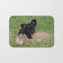 Cute Puppies At Play Bath Mat