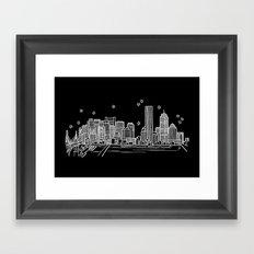 Boston, Massachusetts City Skyline Framed Art Print