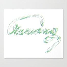 running 2 typography Canvas Print