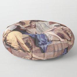 Sebastiano Ricci - Bathseba at her bath Floor Pillow
