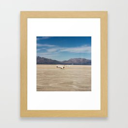 Space Shuttle in 1982 The STS-3 landing on Northrup Strip at White Sands New Mexico Framed Art Print