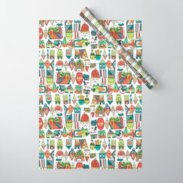 Jolly Character Sketch Wrapping Paper