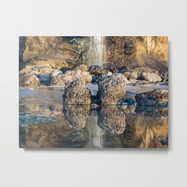 Tide Pool Reflections Metal Print