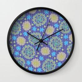 Kantha floral 4 Wall Clock