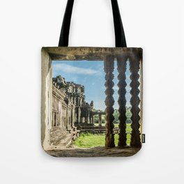 Angkor Wat, Window of the Outer Wall, Cambodia Tote Bag