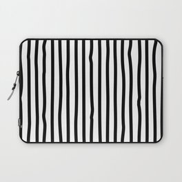 Black and white drawing stripes - striped pattern Laptop Sleeve