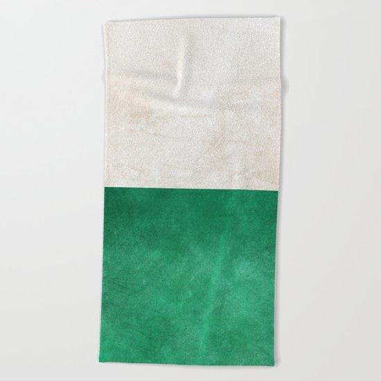 Pearl & Emerald #society6 #decor #buyart Beach Towel
