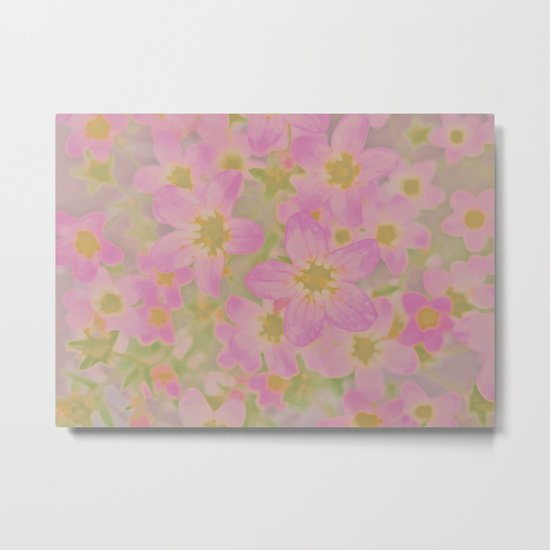 Pink Floral, The Earth Laughs In Flowers Metal Print