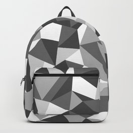 Abstraction Black and White Backpack