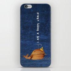 i am a happy whale iPhone & iPod Skin