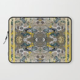 Passion Flower Baroque in Gold Yellow Grey Laptop Sleeve