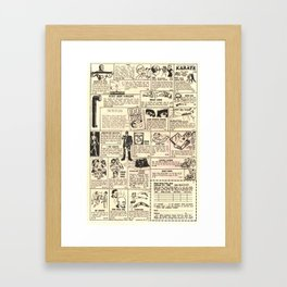 Vintage Comic Book Classified Ad Print Framed Art Print