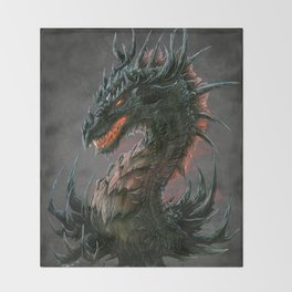 Regal Dragon Throw Blanket
