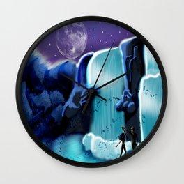 Waterfall Moon Dance Wall Clock