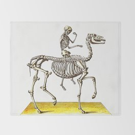 Horse Skeleton & Rider Throw Blanket