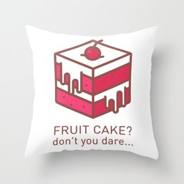 Fruitcake Sweaters Funny Lame Christmas Gift Meme Throw Pillow