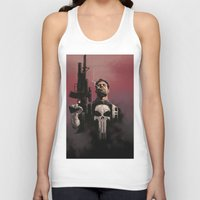 punisher Tank Tops featuring Punisher by Dave Seguin