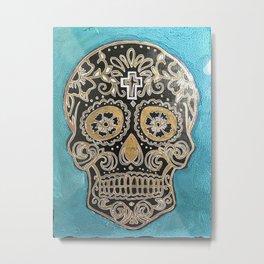 Sea Skull Metal Print