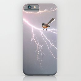 Bird on lightning bolt - Fantail iPhone Case
