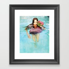 She Realized People Are Not Always What They Appear to Be Framed Art Print