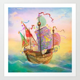 The Dreamship Gallivant Art Print