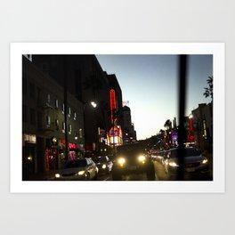 Crossing Hollywood Blvd. Art Print