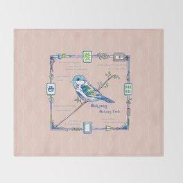 Lovely Sparrow - Mahjong Throw Blanket